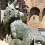 Fountain of Neptune. Bologna. Emilia-Romagna. Italy. — Stock Photo