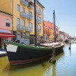 Panoramic view of Comacchio. Emilia-Romagna. Italy. — Stock Photo #21601087