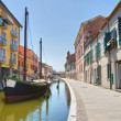 Panoramic view of Comacchio. Emilia-Romagna. Italy. — ストック写真
