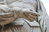 Guercino Marble Statue. Cento. Emilia-Romagna. Italy. — Stock Photo