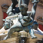 Fountain of Neptune. Bologna. Emilia Romagna. Italy. — Stock Photo