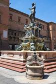 Brunnen von neptun. bologna. emilia-romagna. italien. — Stockfoto