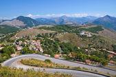 Vue panoramique de maratea. basilicate. italie. — Photo