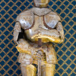Plate armour. Albornoz fortress. Narni. Umbria. Italy. — Stock Photo