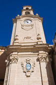 Clocktower. Massafra. Puglia. Italy. — Stock Photo