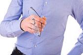 Uomo d'affari con gli occhiali. — Foto Stock