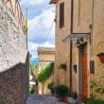 Alleyway. Montefalco. Umbria. Italy. — Stock Photo