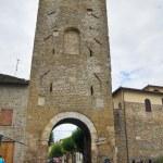 Porta Cannara. Bevagna. Umbria. Italy. — Stock Photo