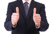Business man showing thumbs up sign. — Stock Photo