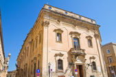 Carafa palace. Lecce. Puglia. Italy. — Stock Photo