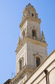Belltower 大教堂教会。拉察。普利亚大区。意大利. — 图库照片