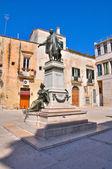 Sigismondo castromediano 青铜雕像。拉察。普利亚大区。意大利. — 图库照片