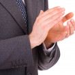 Businessman clapping his hands. - Stock Photo