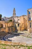 Roman theatre. Lecce. Puglia. Italy. — Foto de Stock