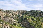 トゥルジのパノラマ風景。バジリカータ州。イタリア. — ストック写真