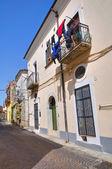Steegje. melfi. basilicata. italië. — Stockfoto