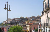 Panoramic view of Melfi. Basilicata. Italy. — Stock Photo