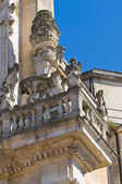 Basilica Church of St. Giovanni Battista. Lecce. Puglia. Italy. — Stock Photo