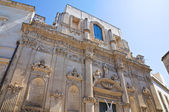 Church of St. Angelo. Lecce. Puglia. Italy. — Stock Photo