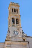 Clocktower. Specchia. Puglia. Italy. — Stock Photo