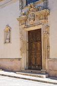 Mother church. Specchia. Puglia. Italy. — Stock Photo
