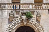Risolo palacio. specchia. puglia. italia. — Foto de Stock