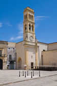 Clocktower. Specchia. Puglia. Italy. — Stock Photo