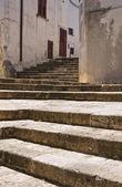 Alleyway. Specchia. Puglia. Italy. — Stock Photo