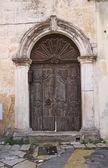 Porta in legno. tricase. puglia. italia. — Foto Stock