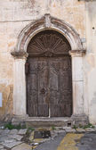 Wooden door. Tricase. Puglia. Italy. — Stock Photo