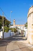 Alleyway. Santa Maria di Leuca. Puglia. Italy. — Stock Photo