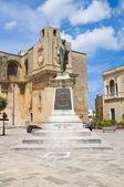 Giuseppe Pisanelli bronze statue. Tricase. Puglia. Italy. — Stock Photo