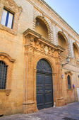 Villani palace. Presicce. Puglia. Italy. — Stock Photo