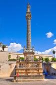 Column of St. Andrea. Presicce. Puglia. Italy. — Stock Photo