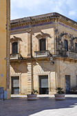 Alberti palace. Presicce. Puglia. Italy. — Stock Photo