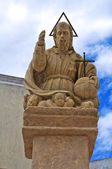 Padre Eterno statue. Presicce. Puglia. Italy. — Stock Photo