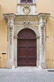Caputo palace. Tricase. Puglia. Italy. — Stock Photo
