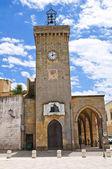 Clocktower. Ugento. Puglia. Italy. — Stock Photo