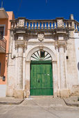 Romasi De Giorgi palace. Taurisano. Puglia. Italy. — Stock Photo