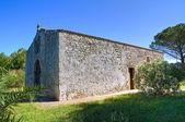 Church of St. Eufemia. Specchia. Puglia. Italy. — Stock Photo