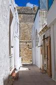 Alleyway. Castro. Puglia. Italy. — Stock Photo