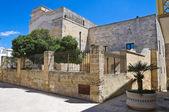 Episcopal palace. Castro. Puglia. Italy. — Stock Photo