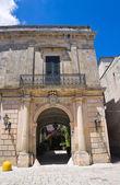 Episcopo palace. Poggiardo. Puglia. Italy. — Stock Photo
