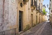 Alleyway. Poggiardo. Puglia. Italy. — Stock Photo