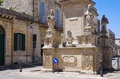 Column of Madonna delle Grazie. Maglie. Puglia. Italy. — Stock Photo