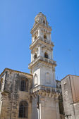 Duomo Cathedral' Belltower. Maglie. Puglia. Italy. — Stock Photo