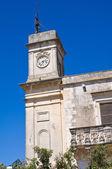 Clocktower. Palmariggi. Puglia. Italy. — Stock Photo