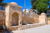 Tancredi fountain. Brindisi. Puglia. Italy. — Stock Photo