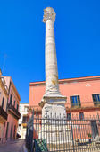 Roman column. Brindisi. Puglia. Italy. — Stock Photo