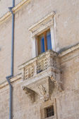 Granafei Nervegna palace. Brindisi. Puglia. Italy. — Stock Photo